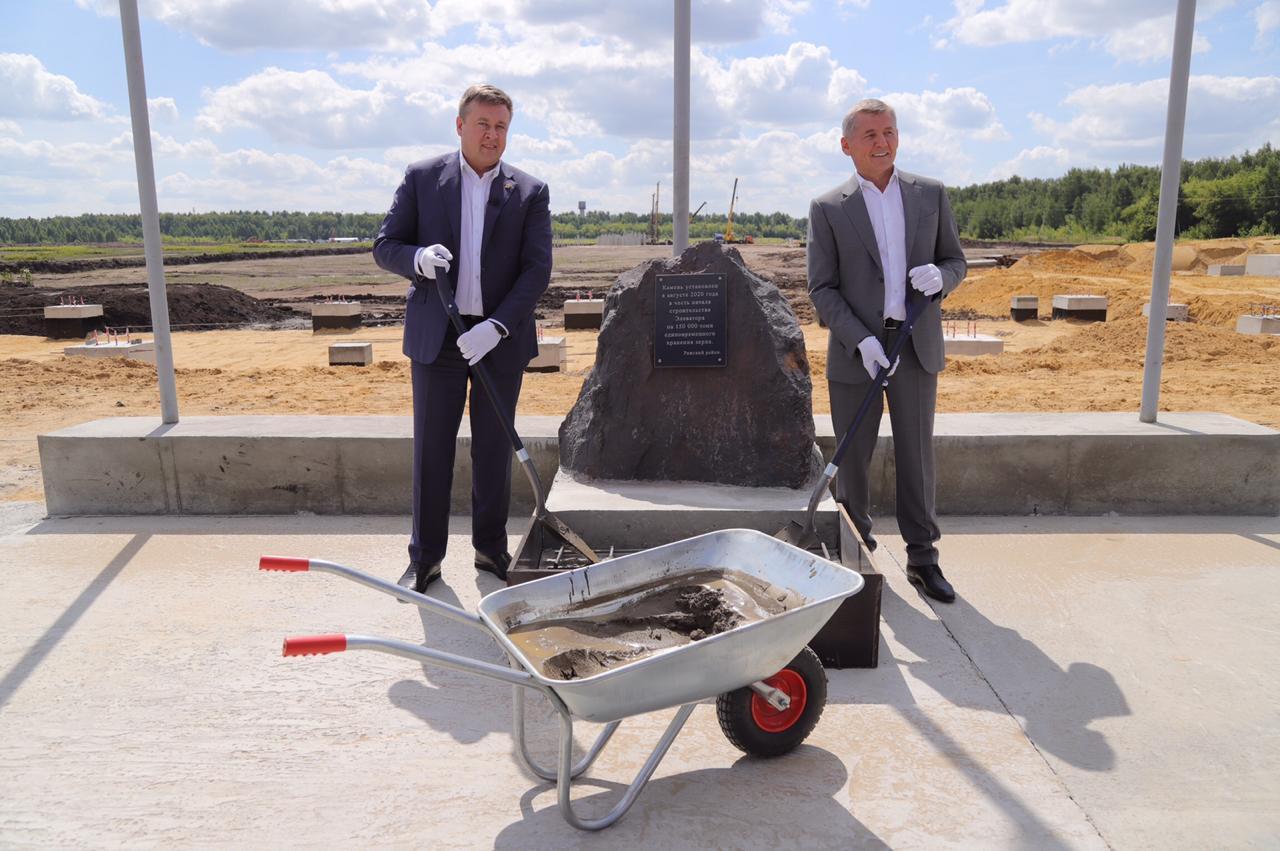 В Рязанской области заложили первый камень в фундамент будущего элеватора