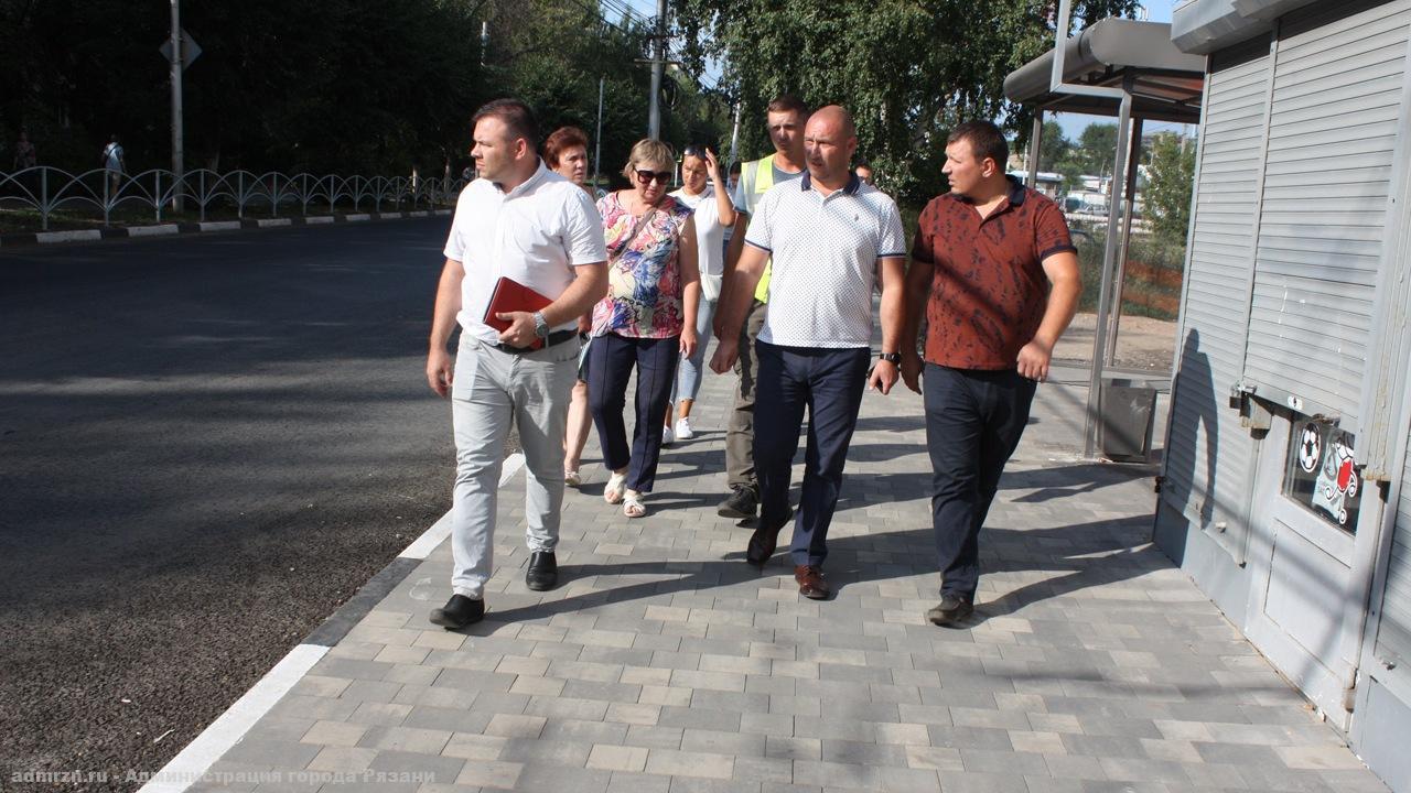 Комиссия не приняла после ремонта участок автодороги на Народном бульваре Рязани